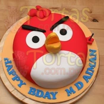Lafrutita.com - Torta Angry Birds 04 - Codigo:ABR04 - Detalles: Torta Art�stica de 20cm de di�metro. Incluye todos los dise�os seg�n imagen. Torta a base de keke De Vainilla, relleno de manjar blanca y forrado en masa el�stica, todo el decorado tambi�n es a base de masa el�stica. Incluye nombre del ni�o de hasta 7 letras, incluye base de masa elastica - - Para mayores informes llamenos al Telf: 225-5120 o 476-0753.