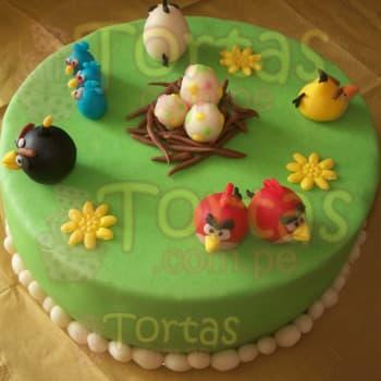 Lafrutita.com - Torta Angry Birds 07 - Codigo:ABR07 - Detalles: Torta Art�stica de 25cm de di�metro. Incluye todos los dise�os seg�n imagen. Torta a base de keke De Vainilla, relleno de manjar blanca y forrado en masa el�stica, todo el decorado tambi�n es a base de masa el�stica.  - - Para mayores informes llamenos al Telf: 225-5120 o 476-0753.
