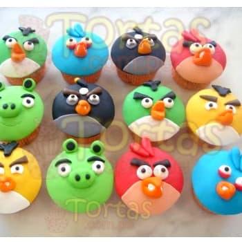 Lafrutita.com - Docen de muffins angry Birds - Codigo:ABR09 - Detalles: 12 deliciosos muffins de vainilla rellenos con manjar blanco y forrados en masa el�stica, el dise�o es seg�n imagen.  - - Para mayores informes llamenos al Telf: 225-5120 o 476-0753.