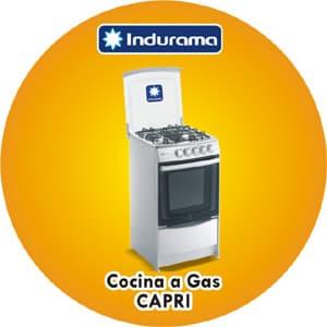Deliregalos.com - COCINA A GAS INDURAMA - CAPRI LINEA2/SPAZIO3 - Codigo:ACP02 - Detalles:
