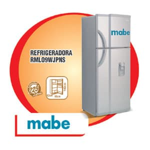 I-quiero.com - REFRIGERADORA MABE - RML-09WJPNSO - Codigo:ADF04 - Detalles: REFRIGERADORA MABE - RML-09WJPNSO - NO FROST - SILVER - 02 PUERTAS,LUZ INTERIOR - ANAQUELES NIVELADORES EN CONSERVADOR - CAJON DE VERDURAS - PRACTIHIELO * GARANTIA: 36 MESES Medidas: Ancho: 58.5 cm Alto :1.42cm y Fondo: 65cm Capacidad: 225 litros  - - Para mayores informes llamenos al Telf: 225-5120 o 476-0753.