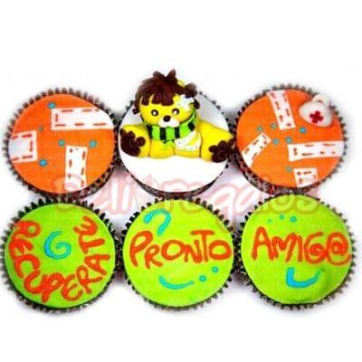 Lafrutita.com - Cupcakes Mejorte Pronto - Codigo:AGT02 - Detalles: Deliciosos cupcakes x 6 unidades, decoracion totalmente comestible en exquisita masa elastica. Incluye tajeta de dedicatoria. - - Para mayores informes llamenos al Telf: 225-5120 o 476-0753.