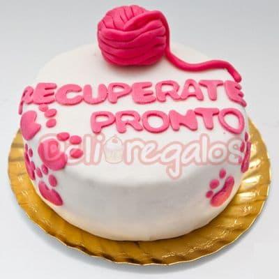 Lafrutita.com - Torta Recuperate Pronto - Codigo:AGT04 - Detalles: Deliciosa torta de vainilla ba�ada con manjar blanco y forrada con masa elastica, tama�o de 20cm de diametro, incluye tarjeta de dedicatoria. - - Para mayores informes llamenos al Telf: 225-5120 o 476-0753.