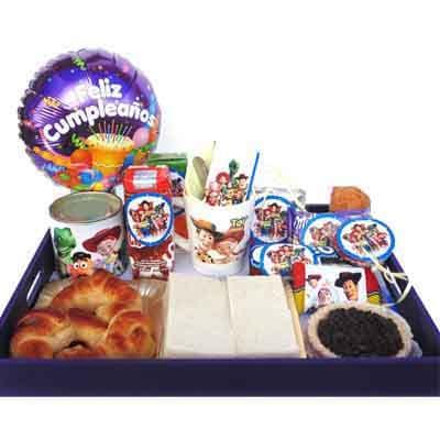 Deliregalos.com - Desayuno unisex 03 - Codigo:AMB03 - Detalles: Desayuno compuesto por latita de galletas, taza personalizada, frugos, chocolatada, sublime, oero, 3 alfajores,sandwich de pollo con drazno, sandwich capresse,  4 tostadas, porcion de mantequilla, 1 mermelada, muffin ba�ado en chocolate, bandeja con patitas, cubierto, 1 globo happy birthday.  Pedido con 72 horas de anticipacion - - Para mayores informes llamenos al Telf: 225-5120 o 476-0753.