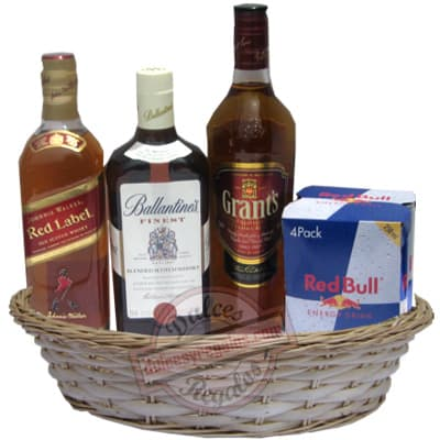 Canasta Año Nuevo 1 - Codigo:ANN01 - Detalles: Canasta de mimbre, incluyendo:
