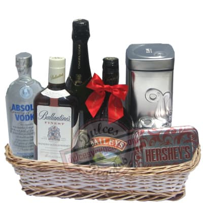 Deliregalos.com - Canasta A�o Nuevo 11 - Codigo:ANN11 - Detalles: Canasta de mimbre, incluyendo: