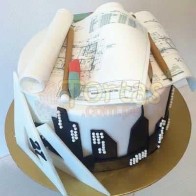 Especial 13 - Codigo:ARQ13 - Detalles: Deliciosa torta de keke ingles bañada con manjar y forrada con masa elastica de Medida 25 cm diametro,planos según imagen fotoimpresión comestible , y demas accesorios en azucar,base forrado en papel de aluminio.  - - Para mayores informes llamenos al Telf: 225-5120 o 4760-753.