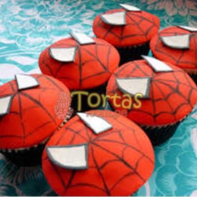 Cupcakes Hombre Araña - Codigo:AVC13 - Detalles: Deliciosos Cupcakes de vainilla, con decoracion en azucar segun imagen. 6 unidades variadas segun imagen. - - Para mayores informes llamenos al Telf: 225-5120 o 4760-753.