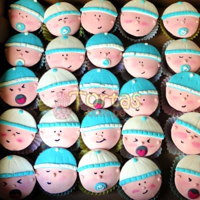 Deliregalos.com - Cupcakes Recien Nacidos 04 - Codigo:BBC04 - Detalles: Deliciosos Cupcakes ba�ados con manjar y cubiertos con masa elastica, incluye dise�o segun imagen. El presente viene en una caja de regalo e incluye tarjeta de dedicatoria. Presentacion de 25 unidades. - - Para mayores informes llamenos al Telf: 225-5120 o 476-0753.
