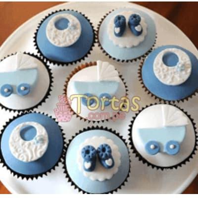 Tortas.com.pe - Cupcakes Recien Nacidos 09 - Codigo:BBC09 - Detalles: Deliciosos Cupcakes ba�ados con manjar y cubiertos con masa elastica, incluye dise�o segun imagen. El presente viene en una caja de regalo e incluye tarjeta de dedicatoria. Presentacion de 8 unidades. - - Para mayores informes llamenos al Telf: 225-5120 o 476-0753.
