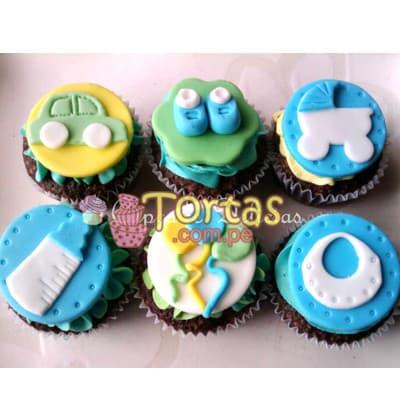 Tortas.com.pe - Cupcakes Recien Nacidos 10 - Codigo:BBC10 - Detalles: Deliciosos Cupcakes ba�ados con manjar y cubiertos con masa elastica, incluye dise�o segun imagen. El presente viene en una caja de regalo e incluye tarjeta de dedicatoria. Presentacion de 6 unidades. - - Para mayores informes llamenos al Telf: 225-5120 o 476-0753.
