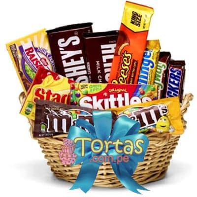 Chocolates importados - Codigo:BBE07 - Detalles: 11 chocolates importados, MyM, MilkWay, Hersheys, Snikers entre otros, todos en una elgante cesta de mimbre.   - - Para mayores informes llamenos al Telf: 225-5120 o 4760-753.