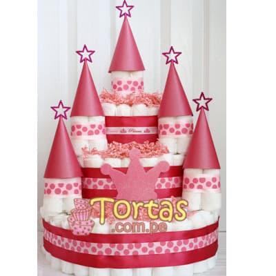 Diloconrosas.com - Castillo Pa�ales - Codigo:BBL01 - Detalles: Lindo presente para reci�n nacidos, Torta de pa�ales a base de huggies 100 primeros dias, pa�ales ideales para recien nacidos. Torta a base de 80 pa�ales  Incluye base y decoraci�n seg�n imagen.  - - Para mayores informes llamenos al Telf: 225-5120 o 476-0753.