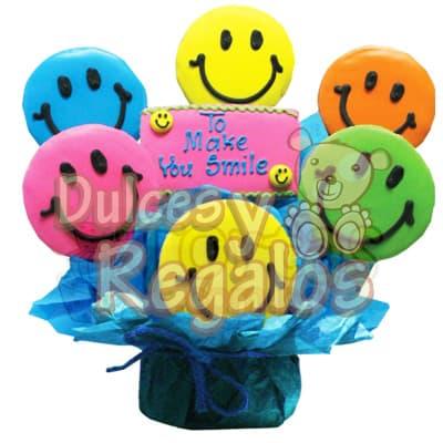 Galletas Smile - Codigo:BBS30 - Detalles: Deliciosas Galletas Artísticas, incluye 6 Galletas Smile y una galleta central con mensaje TO MAKE YOUR SMILE, El presente viene en una elegante base cerámica cubierta por delicado papel en la parte inferior. Cada galleta viene envuelta por separado para garantizar su perfecta frescura. El presente deberá ordenarse con 24 horas de anticipación  - - Para mayores informes llamenos al Telf: 225-5120 o 4760-753.