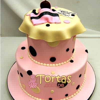 Torta Baby 07 - Codigo:BBT07 - Detalles: Torta a base de keke ingles bañado con manjar blanco y forrada con masa elástica. Tamaño: primer piso 20cm de diametro el primer piso. y 15cm de diametro el segundo. Incluye niña y mantita de azucar - - Para mayores informes llamenos al Telf: 225-5120 o 4760-753.