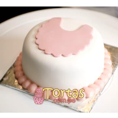 Torta Baby 11 - Codigo:BBT11 - Detalles: Torta a base de keke ingles bañado con manjar blanco y forrada con masa elástica. Tamaño: 10cm de diametro. Incluye letras baby - - Para mayores informes llamenos al Telf: 225-5120 o 4760-753.