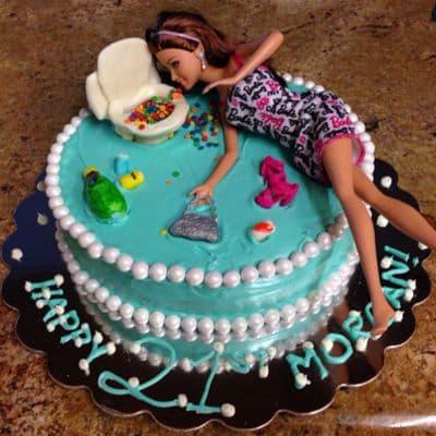 Torta Barbie 07 - Codigo:BRE07 - Detalles: Deliciosa torta de keke ingles rellena con fruta confitadas y pasa, bañada con manjar blanco y forrada con masa elastica con medidas de 20 cm de diametro, incluuye barbie referencial, con accesorios en masa elastica - - Para mayores informes llamenos al Telf: 225-5120 o 4760-753.