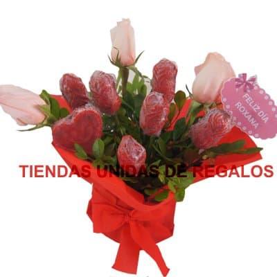 Flores de chocolates 05