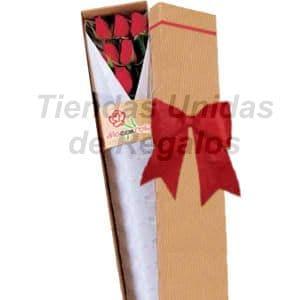 Deliregalos.com - Caja de Rosas 05 - Codigo:CJS06 - Detalles: Elegante caja ecol�gica con 6 rosas importadas, lazo rustico, incluye tarjeta de dedicatoria. - - Para mayores informes llamenos al Telf: 225-5120 o 476-0753.