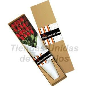 Deliregalos.com - Caja de Rosas 16 - Codigo:CJS16 - Detalles: Caja ecol�gica de 16 rosas importadas, lazo de cinta twist, incluye tarjeta de dedicatoria. - - Para mayores informes llamenos al Telf: 225-5120 o 476-0753.