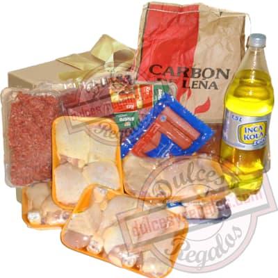 Delicia Parrillera - Codigo:CNJ06 - Detalles: Carbon Vegetal x 5 Kilos, Bistec Tapa x 400g,  Carne Res x  400g, Porcion de Carne Molida x 400g, 12 piernas de Pollo, 4 Encuentros, 6 Chorizos San Fernando, Gaseosa Inca Kola x 1.5 Litros. - - Para mayores informes llamenos al Telf: 225-5120 o 4760-753.