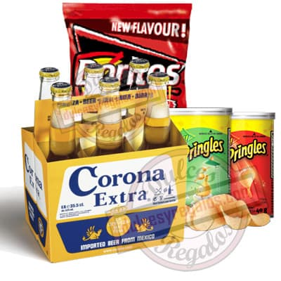 Pack Corona Extra - Codigo:CNJ09 - Detalles: 6 pack de Corona Extra importada, Doritos y 2 latas medianas de pringles. incluye Tarjeta de dedicatoria.  - - Para mayores informes llamenos al Telf: 225-5120 o 4760-753.