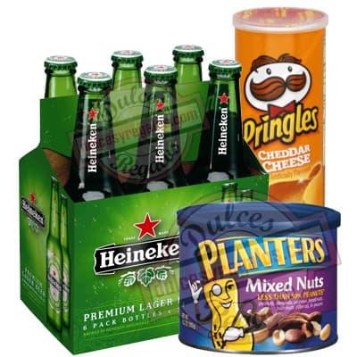Pack Heineken - Codigo:CNJ10 - Detalles: 6 pack de Heineken Extra importada, Planters 283g y 1 lata grande de pringles. incluye Tarjeta de dedicatoria.   - - Para mayores informes llamenos al Telf: 225-5120 o 4760-753.
