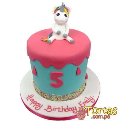 I-quiero.com - Torta Unicornio 06 - Codigo:COR06 - Detalles: Deliciosa Torta a base de keke De Vainilla ba�ado con manjar blanco y forrado con masa elastica, decoracion completa en azucar haciendo referencia a la imagen. Tama�o: 15cm de diametro, incluye unicornio de azucar - - Para mayores informes llamenos al Telf: 225-5120 o 476-0753.