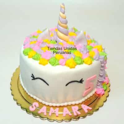 Lafrutita.com - Torta Unicornio 11 - Codigo:COR11 - Detalles: Deliciosa Torta a base de keke De Vainilla ba�ado con manjar blanco y forrado con masa elastica, decoracion completa en azucar haciendo referencia a la imagen. Tama�o: 15cm de diametro - - Para mayores informes llamenos al Telf: 225-5120 o 476-0753.
