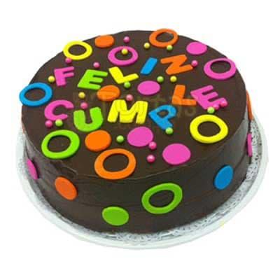 CUMPLEAÑOS 03 - Codigo:CUM03 - Detalles: Deliciosa torta de keke ingles bañada con manjar y forrada con masa elastica de Medida 20 cm diametro, torta cumpleaños, base forrado en papel de aluminio. - - Para mayores informes llamenos al Telf: 225-5120 o 4760-753.