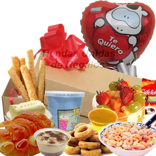 Desayuno Amor 04 - Codigo:DAM04 - Detalles: Desayuno compuesto por: cajita de regalo, sándwich mixto en Pan Bimbo Especial, ensalada de fruta, jugo de frutas, porción de cereal, postre de chocolate, rosquitas, postre de vainilla,3 palitos de orégano,mermelada de piña, 3 palitos de ajonjolí, globo metálico te amo, tarjeta de dedicatoria.  - - Para mayores informes llamenos al Telf: 225-5120 o 4760-753.