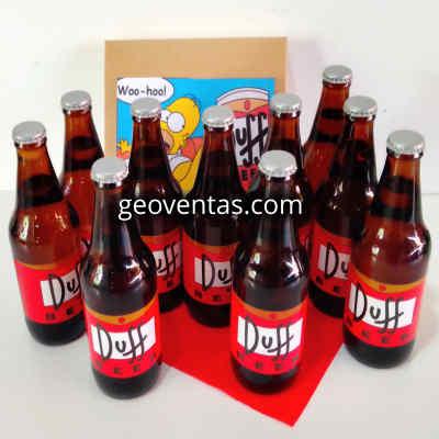 Lafrutita.com - Pack 9 Duff - Codigo:DBA03 - Detalles: Cervezas Artesanales lager, claras y brillantes, tipo Pilsener. Tiene un contenido alcoh�lico de 5% y un contenido menor al 3.5% de carbohidratos. Botellas Personales de 330ml. Dise�o especial Duff, segun imagen.  Las cervezas vienen frias para su transporte. El presente incluye una caja de regalo sellada y tarjeta de dedicatoria. - - Para mayores informes llamenos al Telf: 225-5120 o 476-0753.