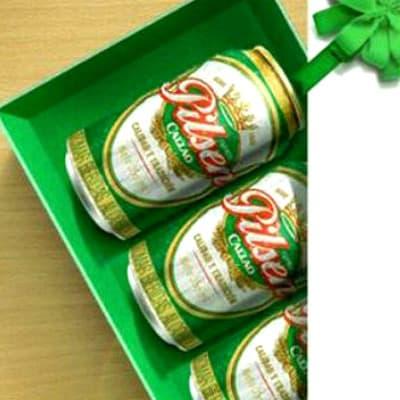 Lafrutita.com - Ramo de Patas - Codigo:DBA04 - Detalles: Caja ecologica conteniendo 4 deliciosas latas de clasica cerveza Pilsen de 33ml cada una - - Para mayores informes llamenos al Telf: 225-5120 o 476-0753.