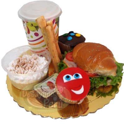 Desayuno de Cars | Desayuno sorpresa para niños | Desayuno Cars con cupcakes - Cod:DCA02