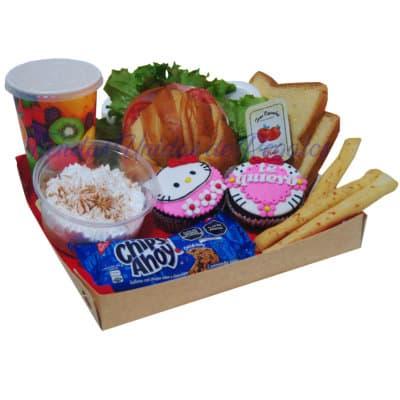 Desayuno Hello Kitty para ellas | Desayunos para regalar | Desayuno Dulce Kitty - Cod:DCE04