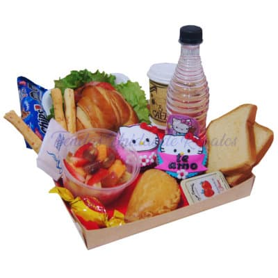 Desayuno Sorpresa para Niñas Hello Kitty | Desayuno Dulce Kitty 03 - Cod:DCE05