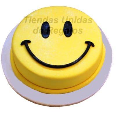 Torta Feliz - Codigo:ENP18 - Detalles: Deliciosa Torta de queque ingles relleno de frutas y finamente decorado con masa elástica. Medidas: 10cm x10cm cuadrada segun stock  - - Para mayores informes llamenos al Telf: 225-5120 o 4760-753.