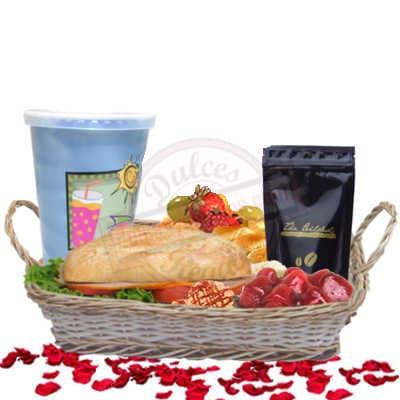 Lafrutita.com - Desayuno Papa 21 - Codigo:DDP21 - Detalles: Desayuno en cesta de mimbre conteniendo: Jugo de frutas, s�ndwich de lomito ahumado, ensalada de frutas,  sachet de caf� especial, postre de 3 leches. - - Para mayores informes llamenos al Telf: 225-5120 o 476-0753.
