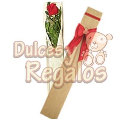 Caja con 1 rosa | Regalos Dia De La Mujer - Cod:DMJ42
