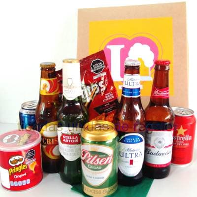 Regalos Peru   Canasta de Cervezas - Cod:CNT08