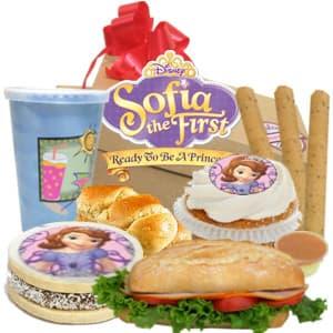 Desayuno Sofia - Codigo:DNN11 - Detalles: cajita de regalo,jugo de frutas, muffin de vainilla con dise�o princesa sofia, alfajor especial gigante de 7cm con foto-impresion totalmente comestible de la princesa, palitos de queso, sandwich de lomito ahumado. - - Para mayores informes llamenos al Telf: 225-5120 o 4760-753.