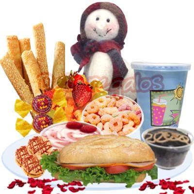 Desayuno Navide�o 04 - Codigo:DNV04 - Detalles: Desayuno conteniendo: Juego de cubiertos, jugo de frutas, sandwich de lomito ahumado, palitos de ajonjoli, postre de 3 leches, porcion de yogurt, porcion de cereal, Un bonobon de cortes�a, peluchito navide�o de cortes�a - - Para mayores informes llamenos al Telf: 225-5120 o 4760-753.
