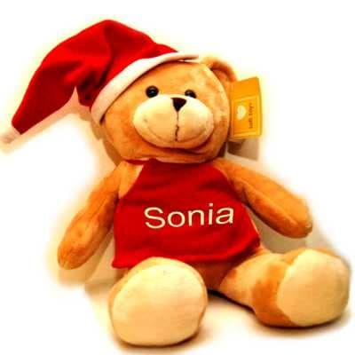 Peluche Personalizado Grande - Codigo:DNV06 - Detalles: Lindo peluche en forma de osito navideño de 43cm de alto. incluye lindo gorro navideño y mandil navideño personalzado con nombre. - - Para mayores informes llamenos al Telf: 225-5120 o 4760-753.