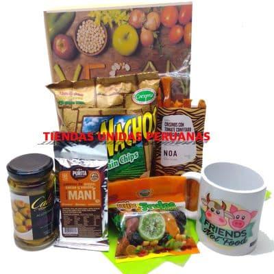 Desayuno Vegetariano 1 - Codigo:DVV01 - Detalles: Cajita de regalos con mo�o decorativo en cinta de agua conteniendo, jugo de frutas, tartaleta de frutas, enrollado vegetariano especial a base de champi�ones, verduras y queso. El regalo incluye cubiertos, servilleta y tarjeta de dedicatoria. - - Para mayores informes llamenos al Telf: 225-5120 o 4760-753.