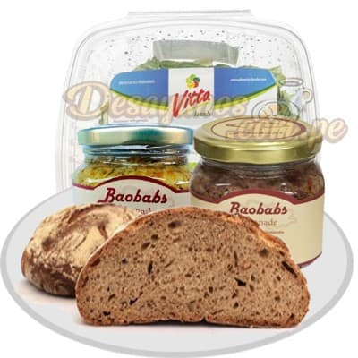 Lafrutita.com - Merienda Veggie - Codigo:DVV03 - Detalles: Caja de regalo cnteniendo:  Taperaad de aceitunas con pimiento, aceituna y rocoto, pan de centeno especial, ensalada de col y zanahoria. Incluye copita de aceite de oliva extra virgen. - - Para mayores informes llamenos al Telf: 225-5120 o 476-0753.