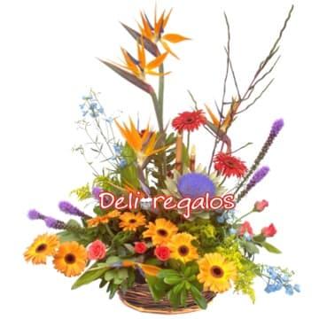 Diloconrosas.com - Dulzura para Ti - Codigo:AGF19 - Detalles: Espectacular arreglo floral en base de mimbre compuesto por gerberas, azucenas, iris, boton de oro, claveles, flores y follaje de estacion.  - - Para mayores informes llamenos al Telf: 225-5120 o 476-0753.