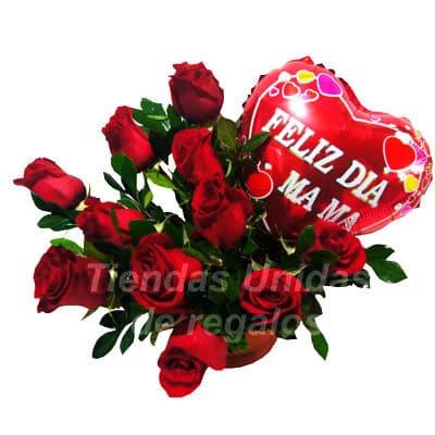 10 rosas y Peluche - Codigo:ARL42 - Detalles: 10 rosas rojas importadas,peluche de 17cm ,base de mimbre y follaje de estacion.  - - Para mayores informes llamenos al Telf: 225-5120 o 4760-753.