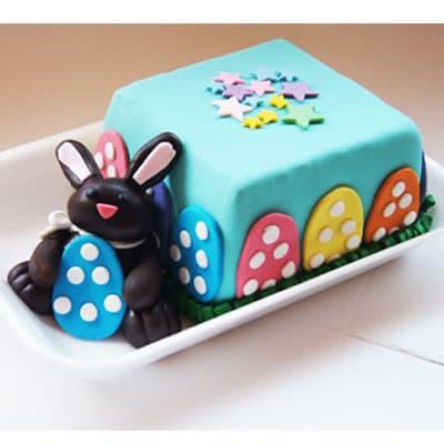 Lafrutita.com - Torta Pascua04 - Codigo:EAS04 - Detalles: Delicioso keke De Vainilla de 10x10cm, ba�ado en manjar blanco y forrado con masa elastica, toda la decoracion es comestible  - - Para mayores informes llamenos al Telf: 225-5120 o 476-0753.