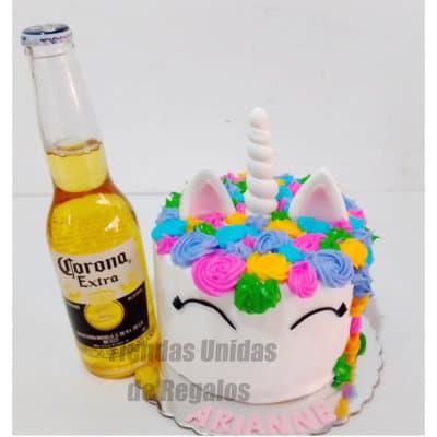 Tortas Peru   Torta Unicornio y Corona - Cod:ENP07