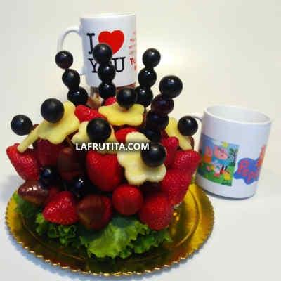 Frutero con Fresas Personalizado - Cod:FCC09